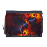 Butterfly Eyes, Abstract Gold Violet Wings Wallets