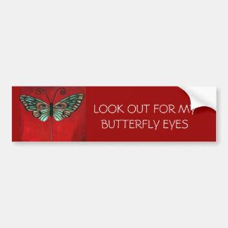 Butterfly Eyes Car Bumper Sticker