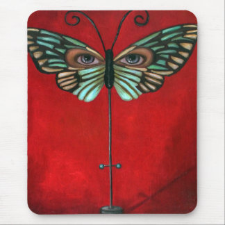 Butterfly Eyes Mouse Pad