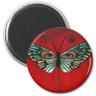 Butterfly Eyes Refrigerator Magnet