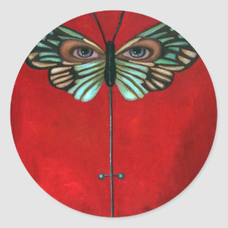 Butterfly Eyes Round Stickers