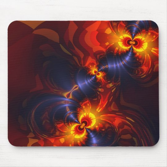 Butterfly Eyes - Violet & Gold Wings Mouse Pad