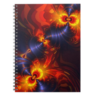Butterfly Eyes - Violet & Gold Wings Spiral Note Books