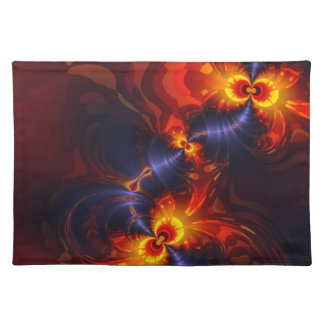 Butterfly Eyes - Violet & Gold Wings Cloth Place Mat