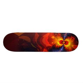 Butterfly Eyes - Violet & Gold Wings Skateboard