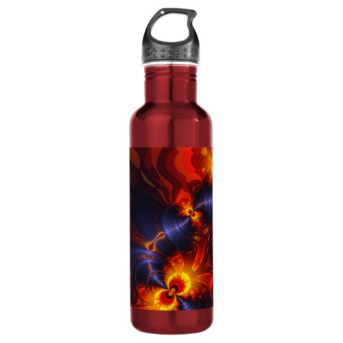 Butterfly Eyes - Violet & Gold Wings Stainless Steel Water Bottle
