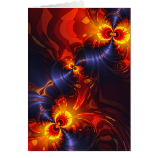 Butterfly Eyes - Violet & Gold Wings Vertical Greeting Card