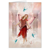 Butterfly Fairy and Hummingbirds