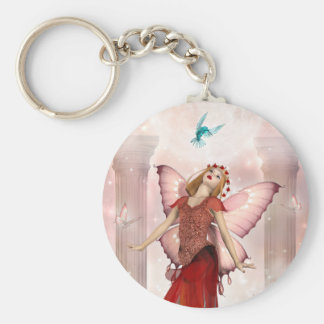 Butterfly Fairy and Hummingbirds Keychain