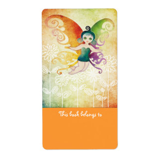 Butterfly Fairy Bookplates Labels