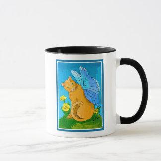 Butterfly Fairy Cat Mug
