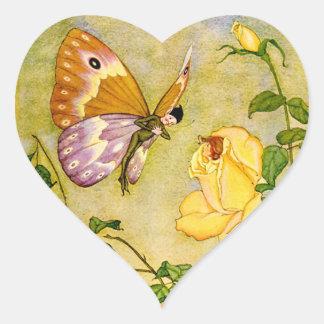 Butterfly Fairy Heart Sticker