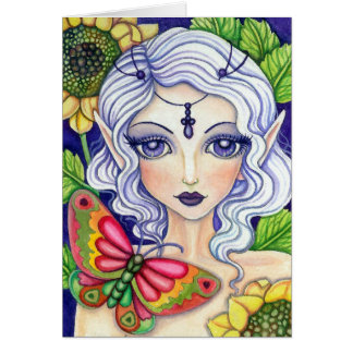 Butterfly Fairy  * her concealment *   Blank Card