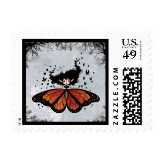 Butterfly Fairy Postage Stamps