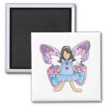 Butterfly Fairy Princess 2 Inch Square Magnet