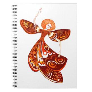 Butterfly Fairy Spiral Notebook