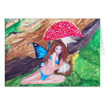 Butterfly Fairy Watercolor Card 1