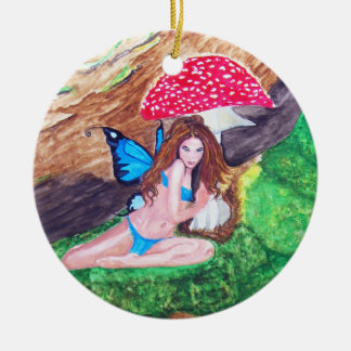 Butterfly Fairy Watercolor Painting Ornament 1
