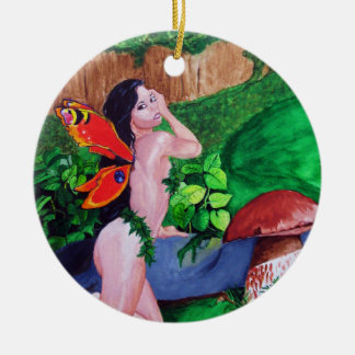 Butterfly Fairy Watercolor Painting Ornament 3