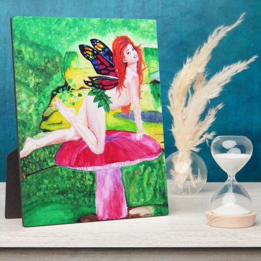 Butterfly Fairy Watercolor Painting Plaque 2