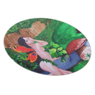 Butterfly Fairy Watercolor Painting Plate 1