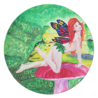 Butterfly Fairy Watercolor Painting Plate 3