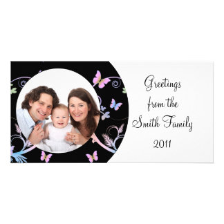 Butterfly/Family Photo Card