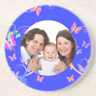 Butterfly/ Family Photo Coaster