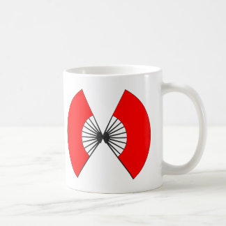 Butterfly fan classic white coffee mug