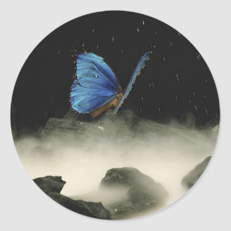 Butterfly Fantasy Classic Round Sticker