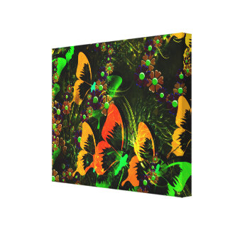Butterfly Fantasy Colourful Design Canvas Print