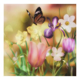 Butterfly fantasy garden Matte Wall Panel Panel Wall Art