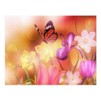 Butterfly  fantasy garden postcard