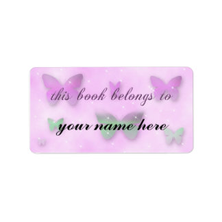 Butterfly Fantasy Library Book Label Address Label
