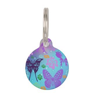 Butterfly Fantasy Pet Name Tag