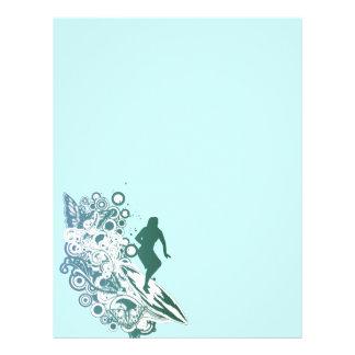 butterfly female surfer design letterhead