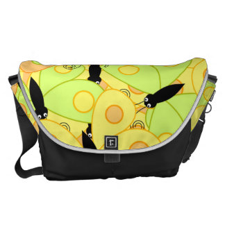 Butterfly Fest Collage Messenger Bags