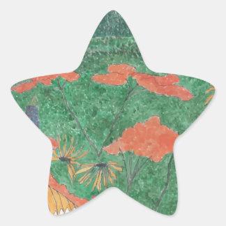 Butterfly Field Star Sticker