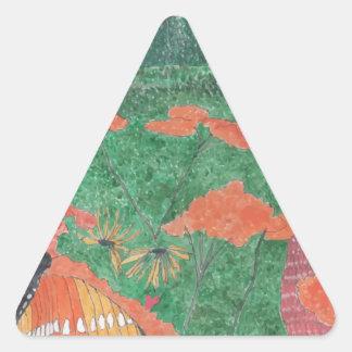 Butterfly Field Triangle Sticker