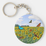 Butterfly Fields Forever Basic Round Button Keychain