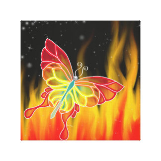 Butterfly Fire Wrapped Canvas Gallery Wrap Canvas