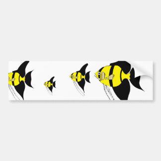 butterfly fish bumper sticker