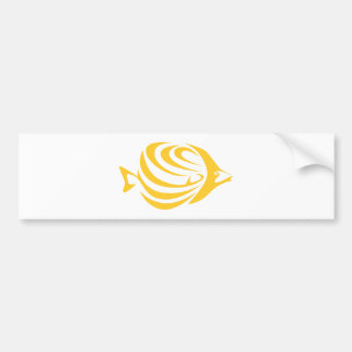 Butterfly Fish Bumper Sticker