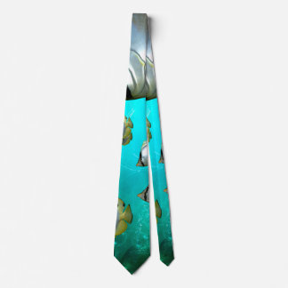 Butterfly fish neck tie