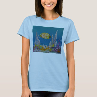 Butterfly fish painting on T-Shirt