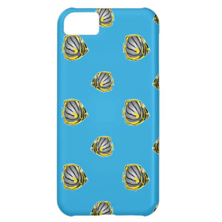 Butterfly-fish pattern cover for iPhone 5C