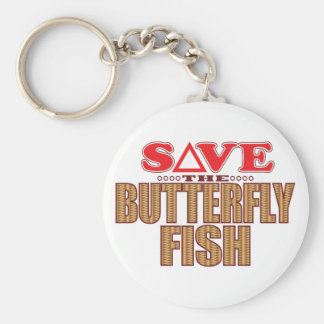 Butterfly Fish Save Keychain