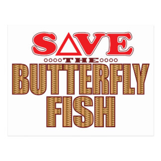 Butterfly Fish Save Postcard