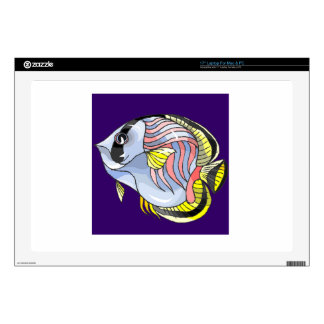 """Butterfly Fish 17"""" Laptop Decals"""