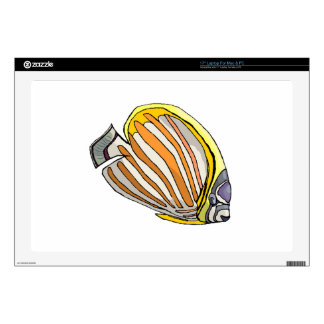"""Butterfly Fish 17"""" Laptop Decal"""